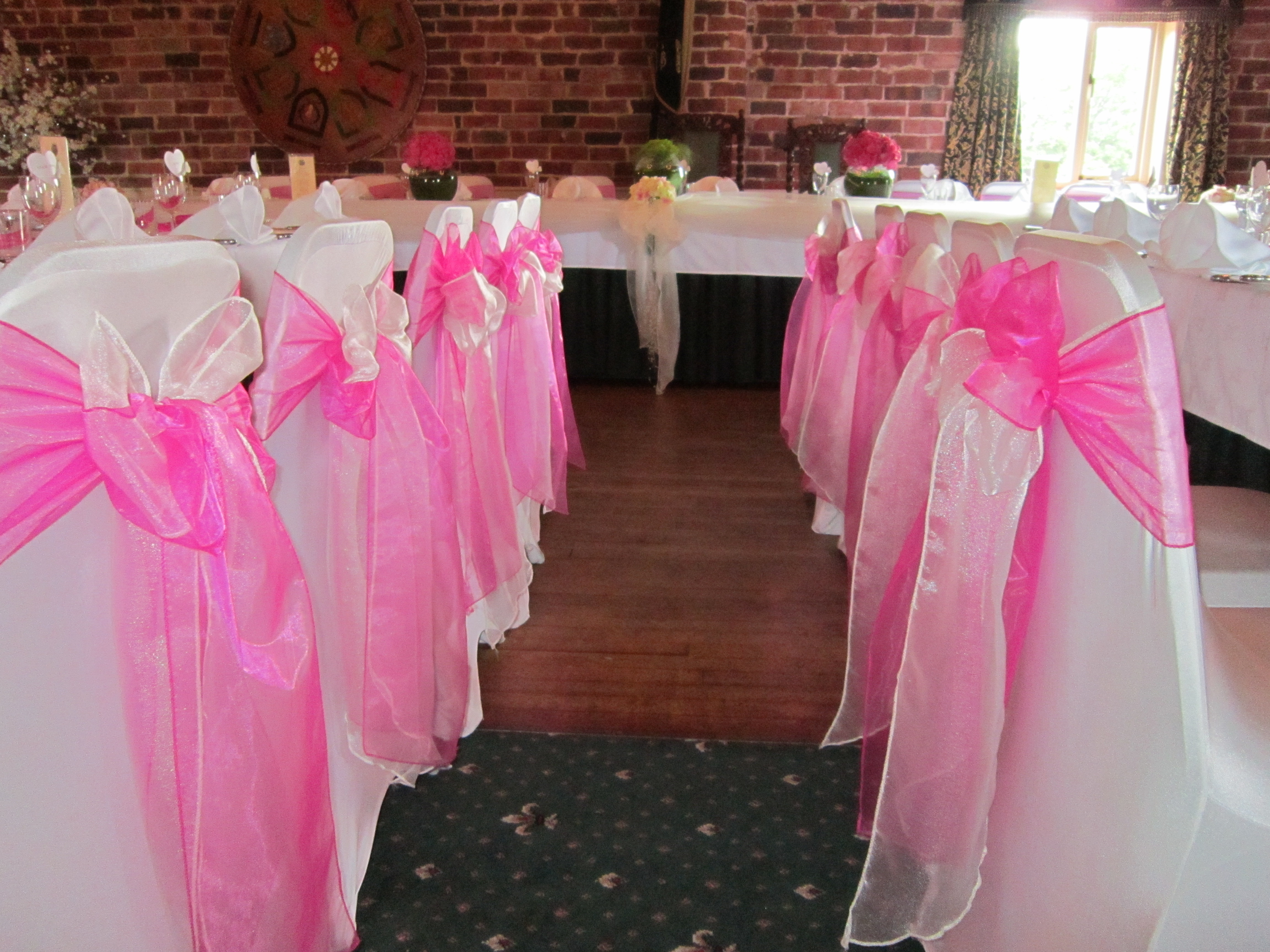Organza Sashes Chair Sashes Wedding Decorations Chillie Breeze