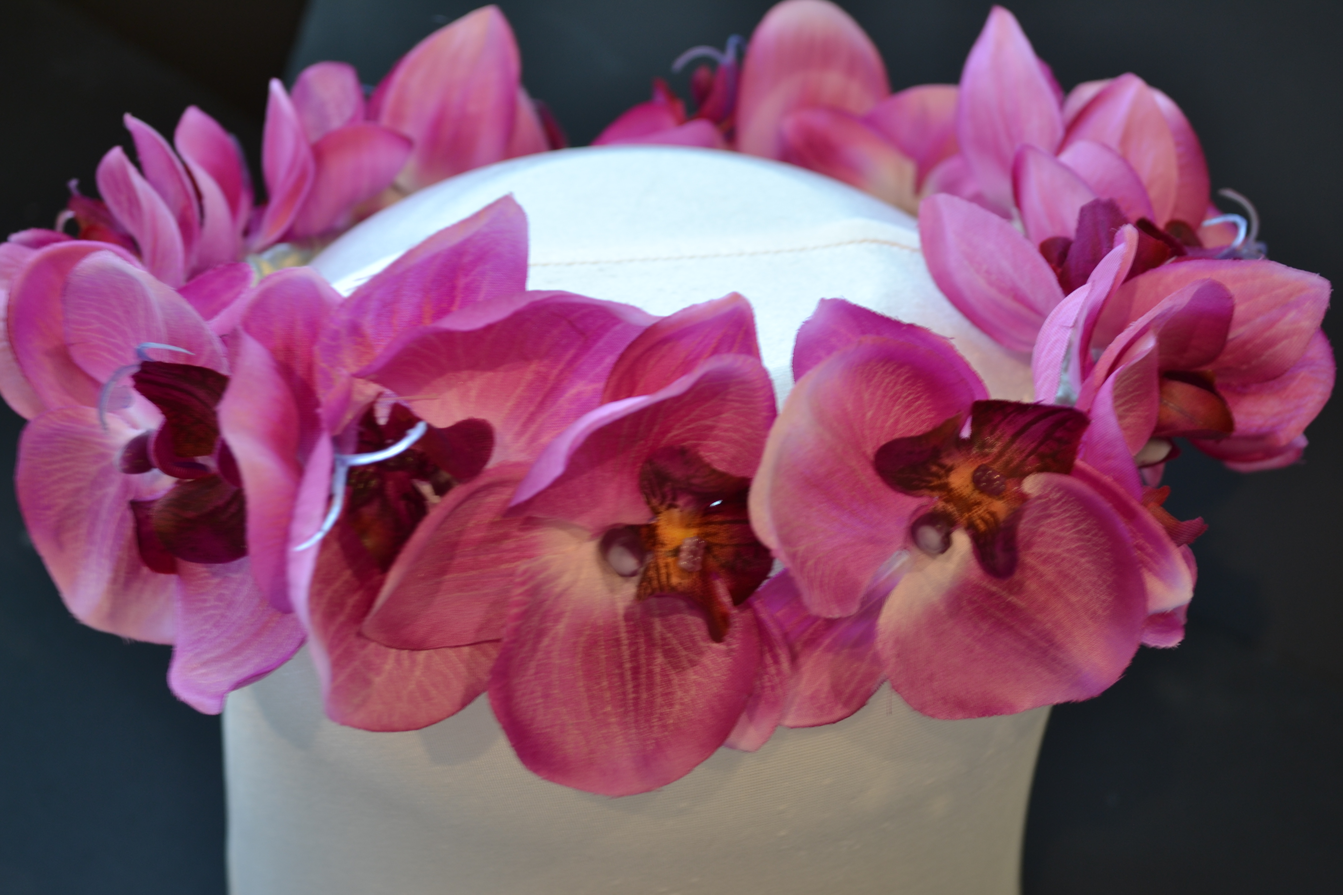 Hot Pink Orchid Flower Crown Chillie Breeze
