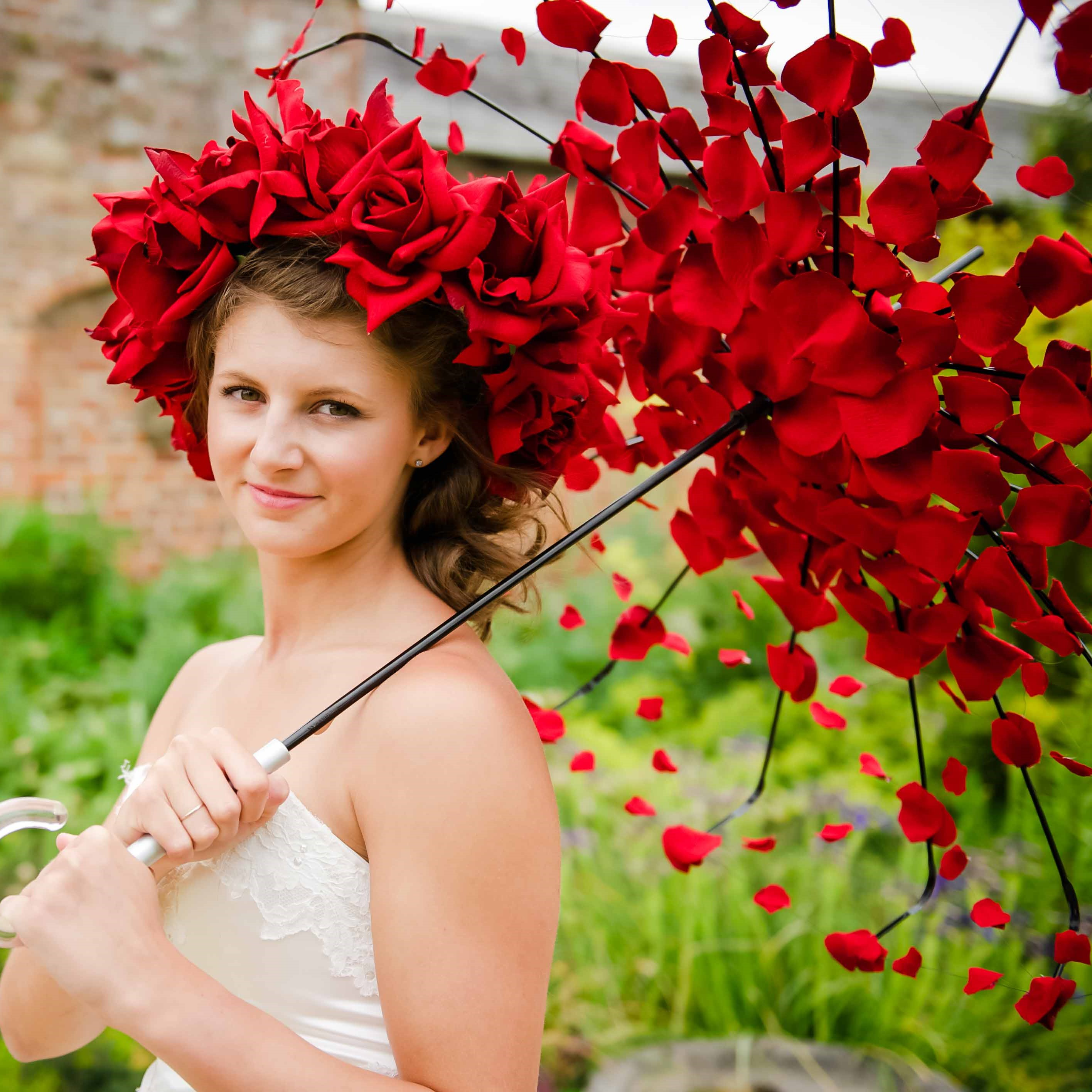 Red velvet rose flower crown buy online from chillie breeze red velvet rose flower crown izmirmasajfo