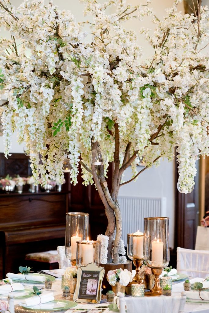 Blossom Trees And Wisteria For Hire Chillie Breeze Table