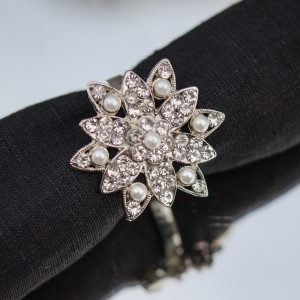 Diamante and Pearl Napkin Ring
