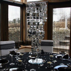 Table Silver Chandelier